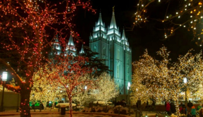 Temple Square during Eve Monday, Dec. 31, 2012.